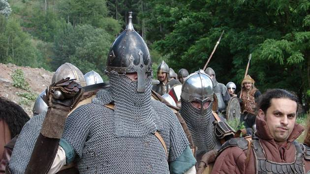 Bitva na festivale středověké kultury Svatobor.