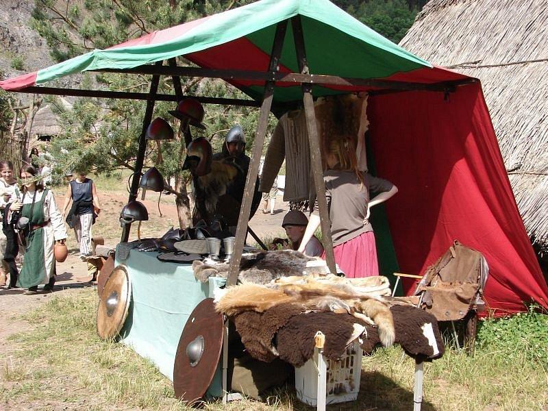 Středověká osada Isarno.