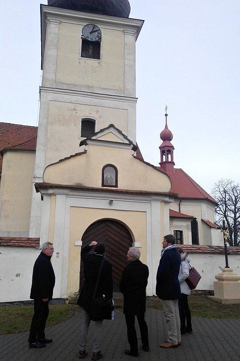 Návštěva kostela v Sebranicích.