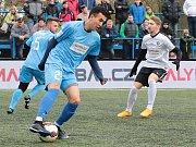 V šestém kole Superligy malého fotbalu deklasovalo Blanensko (ve světlých dresech) Prahu 7:1.