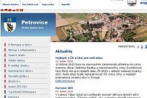 Webové stránky Petrovic.