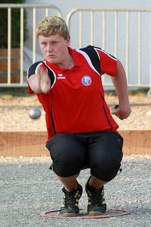 Jan Charvát na mistrovství Evropy juniorů ve Francii vroce 2013.