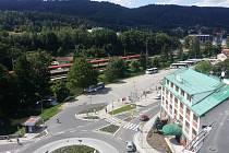 Staré autobusové nádraží v Blansku. V půlce příštího roku tu bude stát nový moderní terminál.