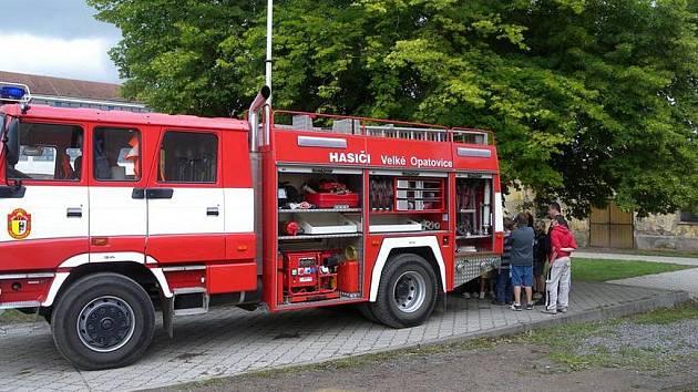 Dobrovolní hasiči z Velkých Opatovic