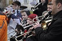 Muzikanti při Předvánočním koledování navštívili například Velké Opatovice, Borotín, Vanovice nebo Světlou.
