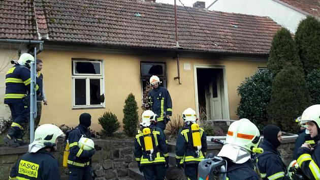 Požár domu v Černé Hoře na Blanensku