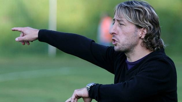 Trenér fotbalistů Blanska Michal Kugler.