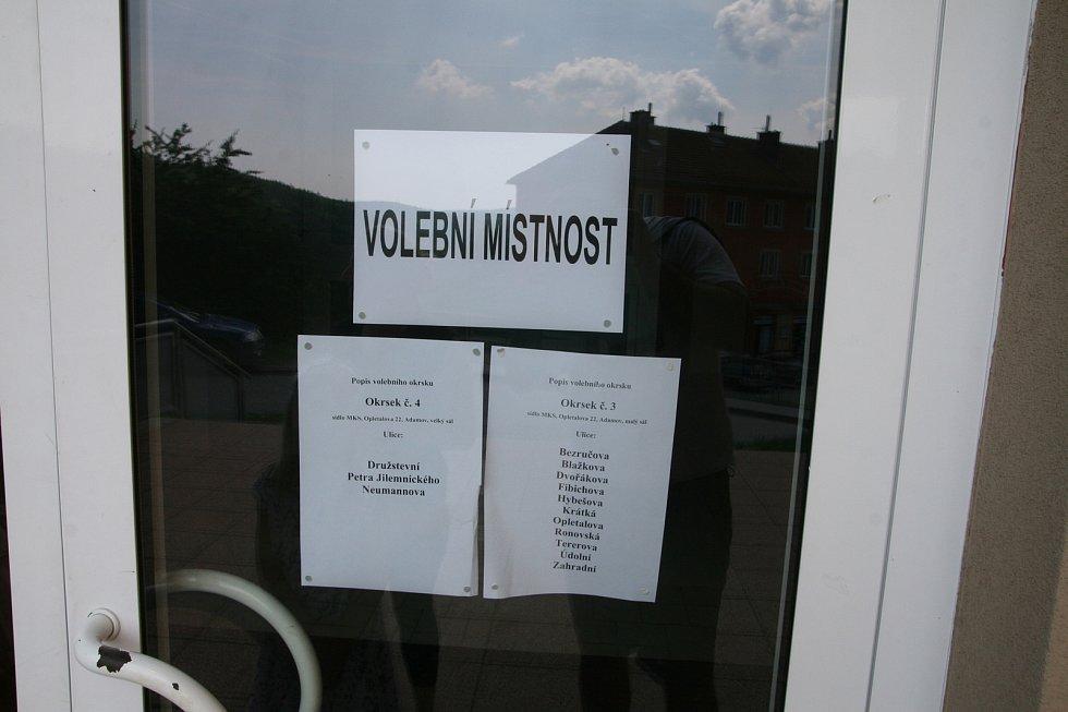 V Adamově, ve čtvrtém největším městě na Blanensku, probíhaly volby do Evropského parlamentu v poklidu.