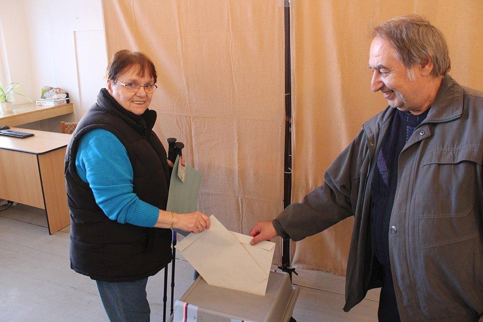 Komunální volby ve volebním okrsku číslo 2 v Boskovicích.