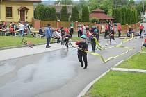 Soutěž dobrovolných hasičů v Mladkově.