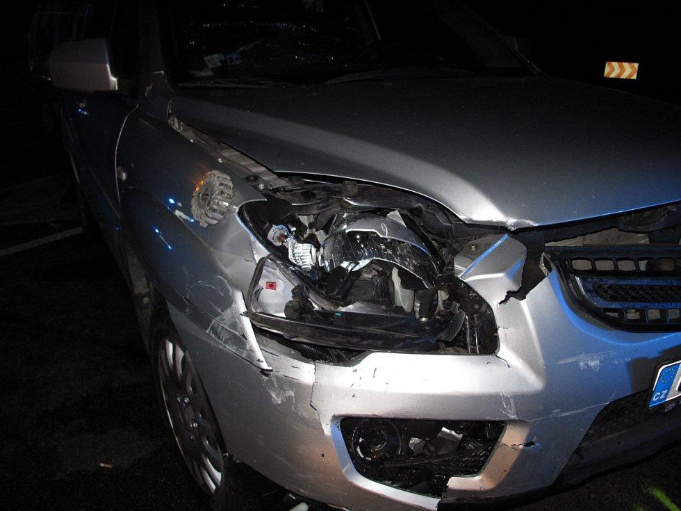 V pátek večer se na křižovatce hlavního tahu Brno-Svitavy s odbočkou na Boskovice srazila čtyři osobní auta.