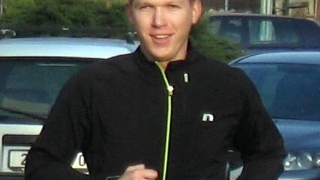 Tomáš Mokrý z pořadatelského týmu Půlmaratonu Moravským krasem.