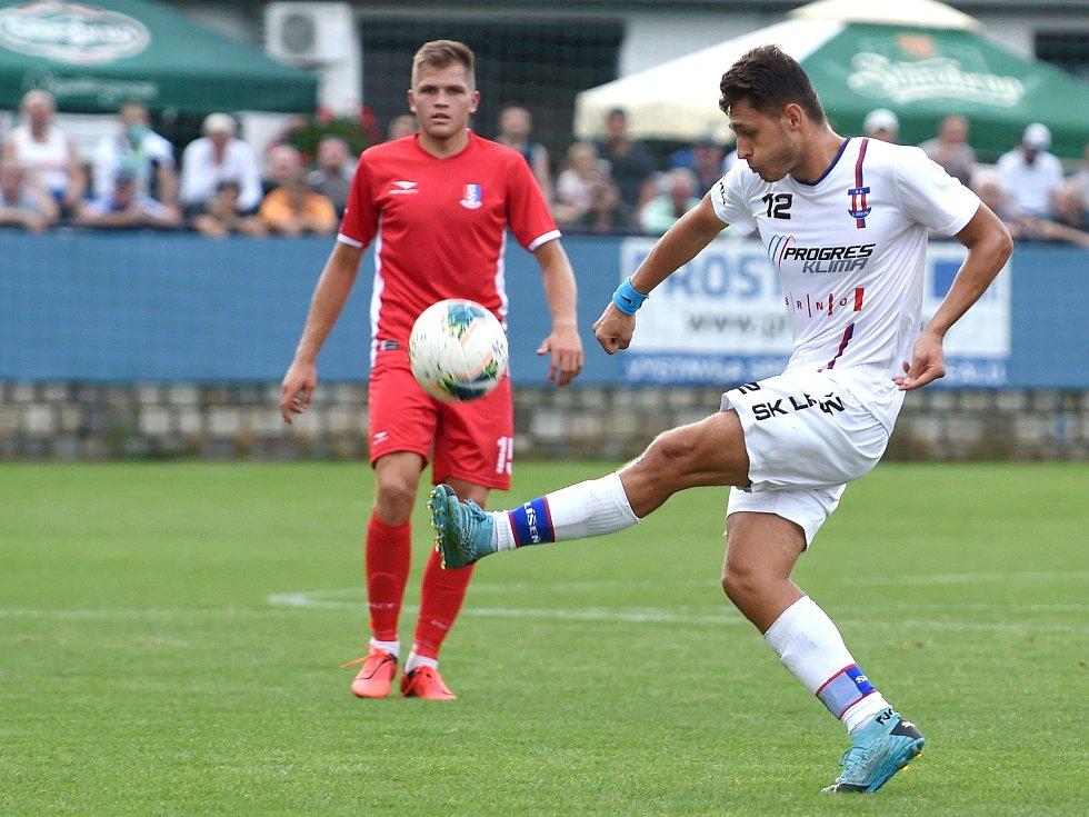 29.8.2020 - domácí SK Líšeň v bílém (Jakub Kučera) proti FK Blansko