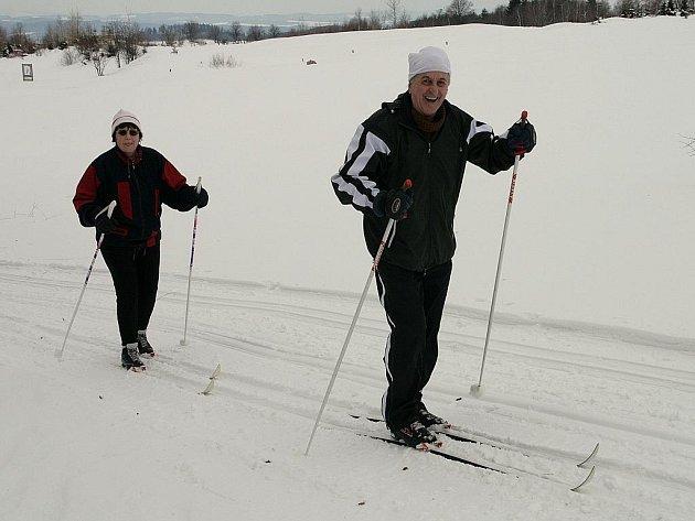 Mezi oblíbené běžkařské trasy na Blanensku patří například okruh na golfovém hřišti v Kořenci.