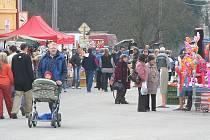 Na největší sloupskou pouť Květný pátek se sjely stovky lidí z okolí i z daleka.