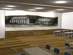 Vizualizace rekonstrukce Městského kulturního střediska v Adamově.