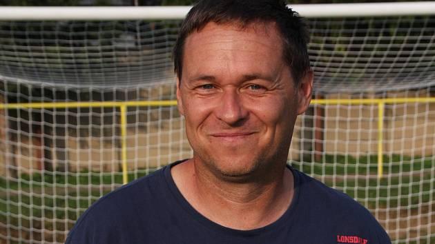 Trenér fotbalistů Ráječka Petr Vašíček.