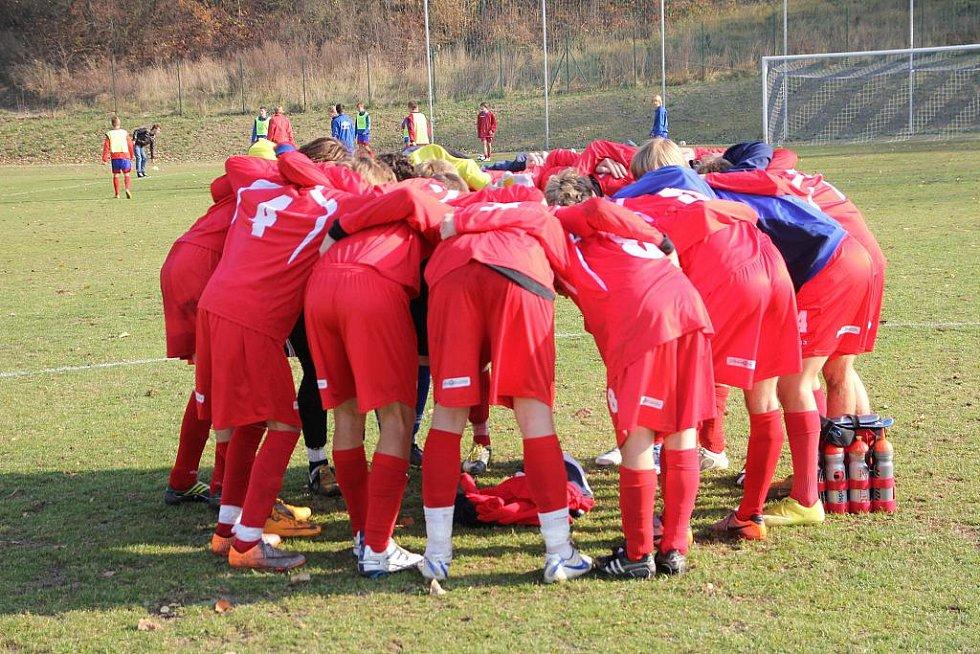 Dorostenci FK Apos Blansko porazili Humpolec 4:0.