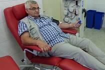 Oldřich Grulich potřísté daroval krevní derivát