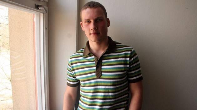 Vítěz krajského kola soutěže Enersol 2008 Martin Pavelec.