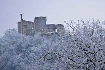 Boskovický hrad v letošní zimě. Foto: Monika Šindelková
