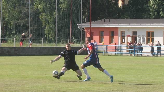 Fotbalisté Blanska získali důležité tři body proti Vrchovině, které jim zajistily záchranu divize.