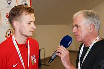 David Bednář v rozhovoru při mistrovství Evropy v malé kopané.