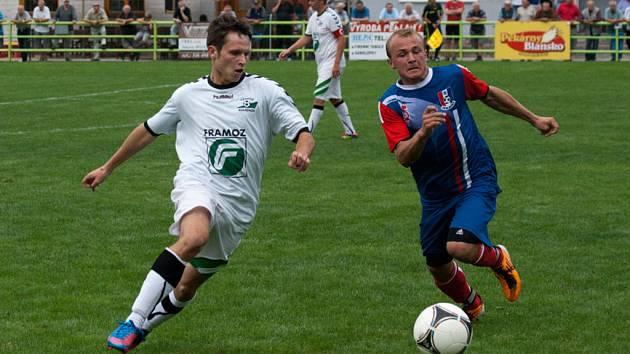 Blanenští fotbalisté rozprášili Rousínov. Vyhráli 5:1.