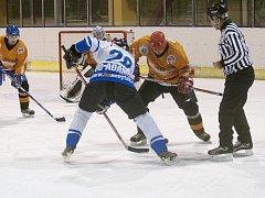 Hokejisté Adamova dostali v okresním přeboru ve skupině Blansko pořádně napráskáno od HC Blansko. Prohráli 2:11.