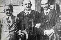 Leoš Janáček, Karel Kovařovic a Jan Kunc v létě 1917.