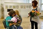 Ze zahájení výstavy Zity Böhmové.