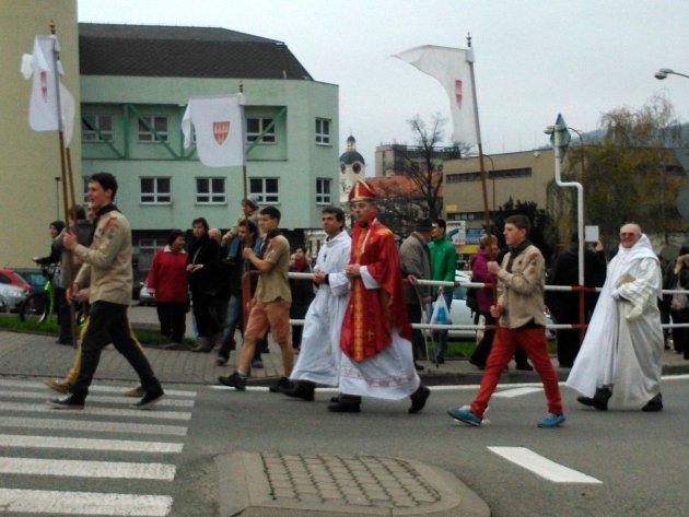 Vítání svatého Martina v Blansku. Ilustrační foto.