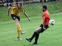 V posledním kole krajského přeboru fotbalistů Olympia Ráječko porazila FC Ivančice 2:1.