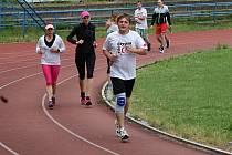 Charitativní běh trval přesně čtyřiadvacet hodin.