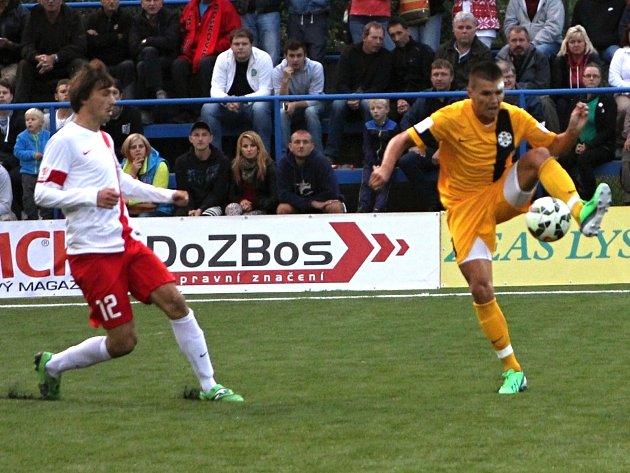 Ondřej Paděra v zápase Blanska s Jihlavou. Teď válí na mistrovství Evropy v Chorvatsku.