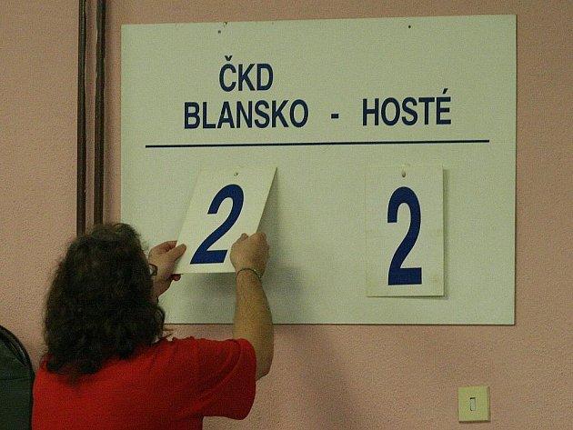 Stolní tenisté Blanska vybojovali o víkendu ve třetí lize jen bod. Nejprve podlehli Prostějovu a pak remizovali se Sokolem Čechovice.