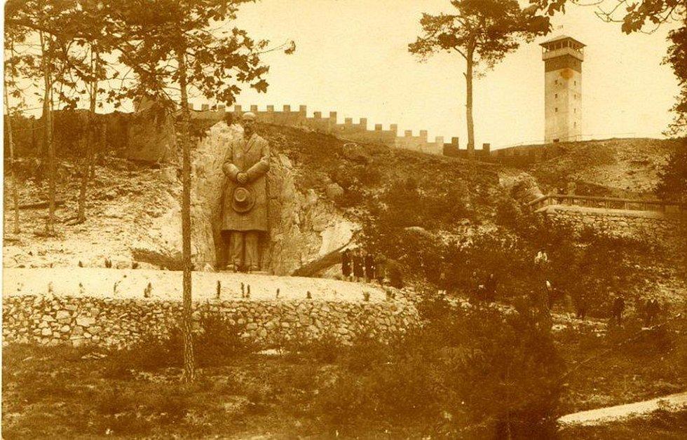 Burianova rozhledna v Rudce u Kunštátu.