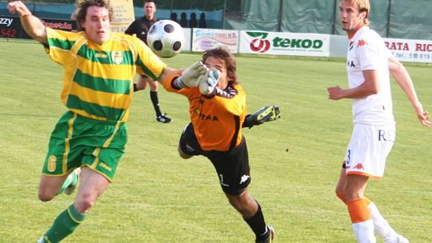 Fotbalisté Blanska nestačili doma ve třetí lize na Mutěnice.