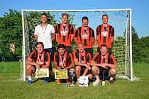 Turnaj v malé kopané ve Vilémovicích letos vyhráli Orli z Kotvrdovic.