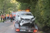 U Jedovnic ve směru na Křtiny se srazila dvě auta.
