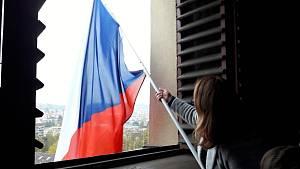 Blanenští skauti při výročí vyvěsili českou vlajku, slavilo se také v Letovicích