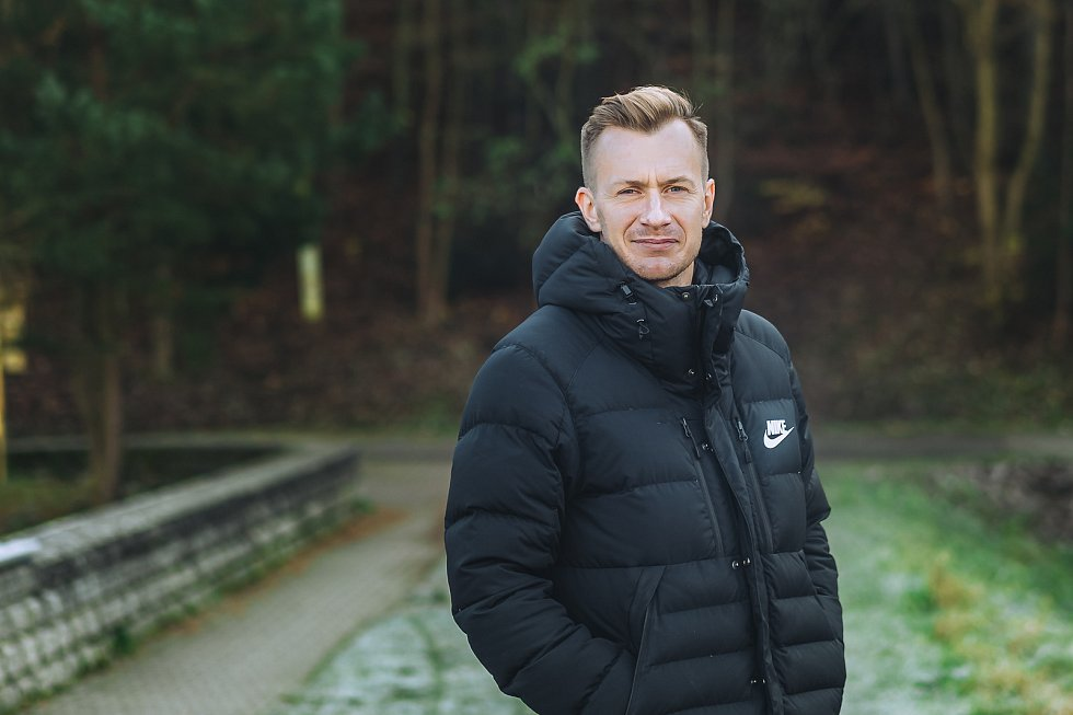 Hrající asistent kouče fotbalistů Ráječka David Bednář.