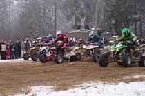 Zima motoskijöringu letos nepřeje. Třetí kolo Poháru Drahanské vrchoviny se s největší pravděpodobností odloží.