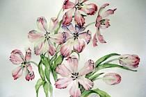 V rukou Evy Juračkové znovu ožívají květiny. Dokonalé ovládnutí techniky, téměř herbářové, je její výhradní doménou.