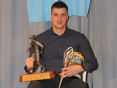 Zdeněk Traxl, hrající trenér fotbalistů Černé Hory a nejlepší fotbalista okresu Blansko za rok 2017.
