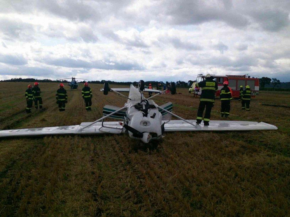 Letecká nehoda u Bořitova.