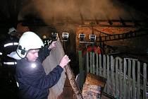 Požár kůlny v obci Vavřinec