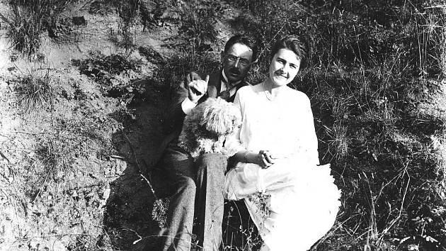 Karel Absolon s manželkou Valérií.