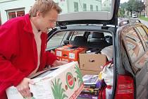 Pracovníci charity v Chrastavě.