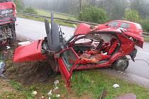 U Lhoty Rapotiny se vloni v říjnu stala tragická dopravní nehoda. Dvacetiletá řidička dostala smyk a narazila v protisměru do náklaďáku. Na místě zemřela.